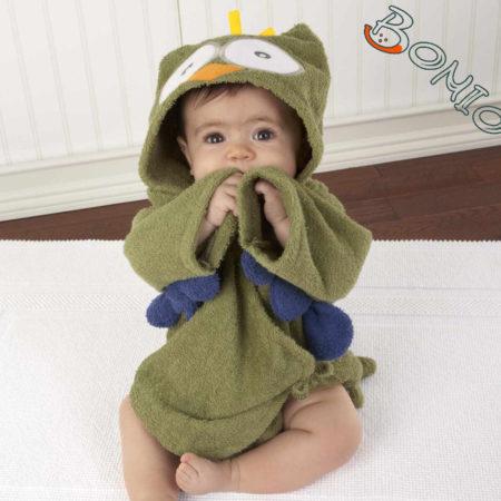- 006 04P3 450x450 - Baby Kapuzenbademantel – Eule