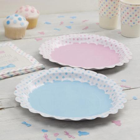 "pappteller - LM 301 Paper Plates 1 450x450 - Pappteller – ""Boy or Girl"""