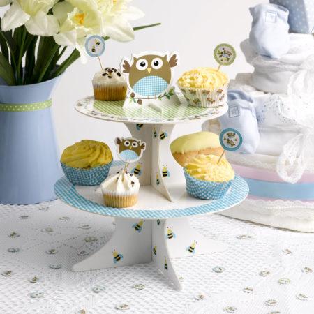 etagere - MAX LRS 672632 LOBS Blue Cupcake Stand V2 450x450 - Tortenhalter/Etagere – Babyeule Boy