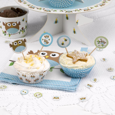 cupcake - MAX LRS 672687 LOBS Blue Cupcake Picks 450x450 - Cupcake Toppers – Babyeule Boy