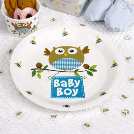 pappteller - MAX LRS 672731 LOBS Blue Boy Plates 450x450 - Pappteller – Babyeule Boy