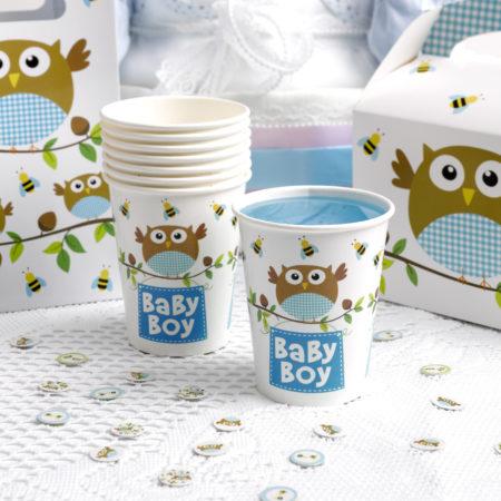pappbecher - MAX LRS 672748 LOBS Blue Baby Boy Cups 450x450 - Pappbecher – Babyeule Boy