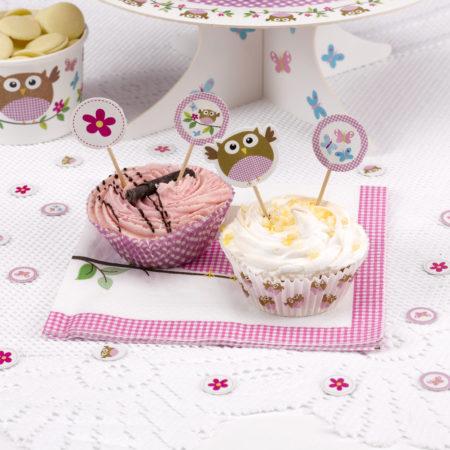 cupcake - MAX LRS 672878 LOBSPink Cupcake Picks 450x450 - Cupcake Toppers – Babyeule Girl