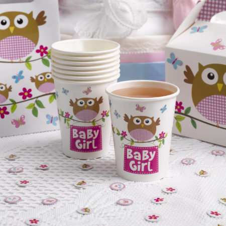 pappbecher - MAX LRS 672939 LOBS Baby Girl Cups 450x450 - Pappbecher – Babyeule Girl