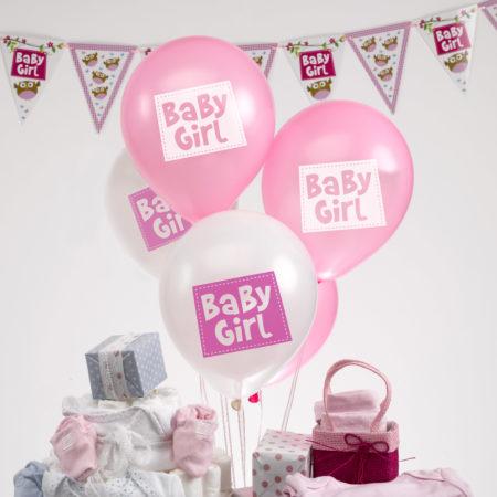 luftballons - MAX LRS 672946 LOBS Baby Girl Balloons 450x450 - Luftballons – Baby Girl