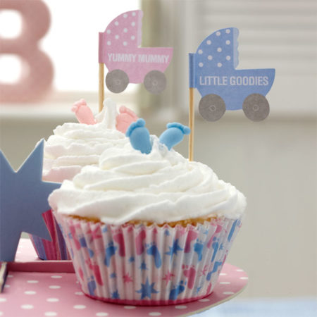 cupcake - TINFPICK 450x450 - Cupcake Toppers – Baby Füßchen