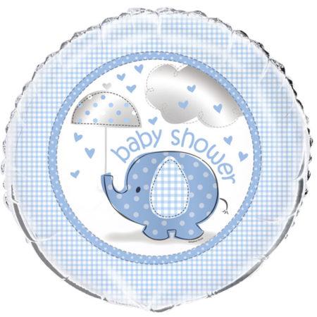 folienballon - UMBLFOIL 450x450 - Folienballon Babyelefant – Blau