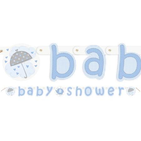 girlande - UMBLLETT 450x450 - Girlande Babyelefant – Blau
