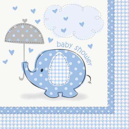 servietten - UMBLNAPK 450x450 - Servietten Babyelefant – blau