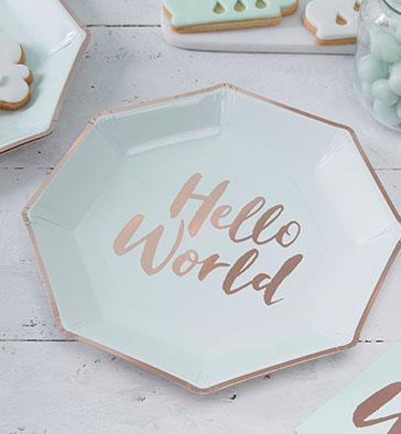 pappteller - Teller - Pappteller – Hello World