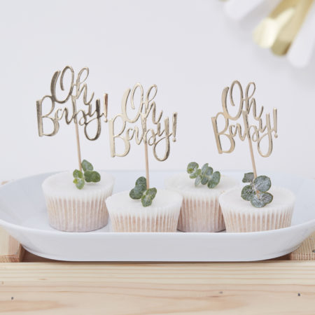 cupcake - OB 105 Oh Baby Cupcake Toppers 450x450 - Cupcake Toppers – Oh Baby!