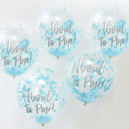 konfetti-luftballons blau - oh baby! - OB 120 About To Pop Blue Confetti Balloons 450x450 - Konfetti-Luftballons Blau – Oh Baby!