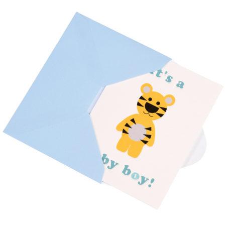 """karte - 27661 2 450x450 - Grusskarte """"It's A Boy"""" Mit Bärchenmotiv specials - 27661 2 450x450 - Specials"""