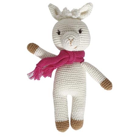 kuscheltier - Amy 450x450 - Gehäkeltes Kuscheltier Alpaka Amy für Mädchen