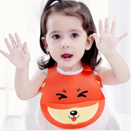 lätzchen - Fuchs L  tzchen 1 450x450 - Baby Lätzchen aus Silikon – Fuchs