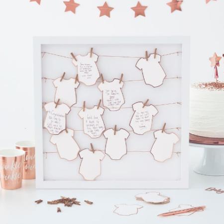 gästebuch - Baby grow frame 450x450 - Gästebuch im Bilderrahmen Bodys- Twinkle Twinkle