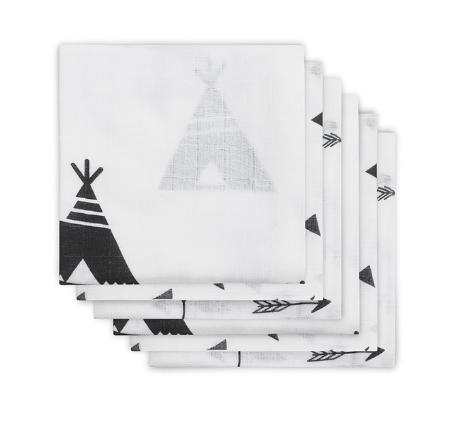mulltuch - Indians black 450x427 - Mulltuch Indianer 6er Pack