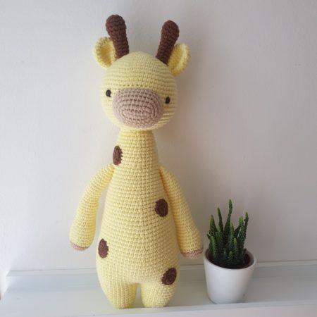 kuscheltier - 20200806 172641 450x450 - Gehäkeltes Kuscheltier Greta die Giraffe