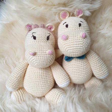 kuscheltier - Download 76 450x450 - Kuscheltier Häkeltier Hanna die Hippo Dame