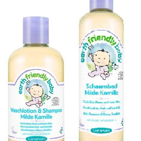 lansinoh  shampoo - lansinoh shampoo und schaumbad kamille 450x450 - Lansinoh Shampoo + Body 250 ml + Schaumbad 300 ml – Kamille